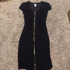 Cache zipper dress Black stretch zipper dress by Cache Cache Dresses