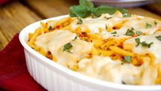 Roasted Red Pepper & Chicken Pasta Bake - Ready in 30 minutes!