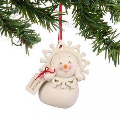 Department 56 Snowpinions Wise Old Bird Hanging Ornament