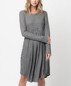 Look at this #zulilyfind! Caralase Gray Swing Dress by Caralase #zulilyfinds