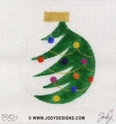 JODY DESIGNS NEEDLEPOINT ORNAMENT B50 Half by JODYdirect on Etsy, $40.00