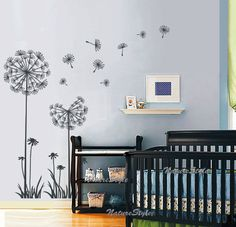 Like this wall decal for a little girls room. It would look great on white or pink wall...