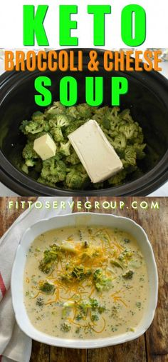 It makes no difference if you are on a keto diet or not, this keto broccoli cheese soup will be loved by all. Which means the entire family can enjoy a healthy low carb version making dinnertime an easy breeze. Plus since this soup is made in a slow cooker it's perfect for busy weeknights. keto broccoli and cheese soup| low carb broccoli and cheese soup| keto soup| low carb soup| crockpot soup| slow cooker soup #ketodietrecipes Keto Crockpot Recipes, Ketogenic Recipes, Diet Recipes, Healthy Recipes, Ketogenic Diet, Paleo Diet, Healthy Low Carb Meals, Easy Crockpot Soup, Crockpot Low Carb Meals
