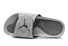 d6f150a4c90cc9 Air Jordan Hydro 13 Grey White Sandal NK726153 Air Jordan Cheap To Buy