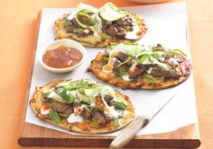 This Lamb Naan Pizza recipe is a tasty alternative to your usual pizza favourite.
