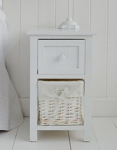 Small White Bedside Cabinet Two Drawer Table Home Pinterest Drawers And Bedrooms
