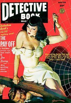 Vintage Horror, Vintage Cartoon, Vintage Comics, Vintage Posters, Arte Do Pulp Fiction, Detective, Trading Card Sleeves, Arte Dope, Crime