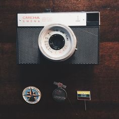 I just bought a CMEHA (Russian for Smena) which is one of the original cameras produced in the late 1980's in the LOMO factory in St. Petersburg. Can't wait to try it out! Oh! And I bought some badges too