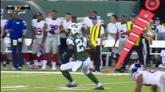 Always in the right spot at the right time...  Darrelle Revis PICKS off Eli Manning!