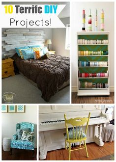 10 DIY Projects www.craft-o-maniac.com