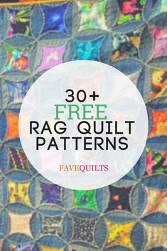 Learn how to make a rag quilt when you check out this full, quilting video tutorial. Plus, discover over 30 free rag quilt patterns and how-tos to try Flannel Rag Quilts, Baby Rag Quilts, Barn Quilt Designs, Quilting Designs, Quilting Projects, Sewing Projects, Quilting Ideas, Sewing Ideas, Rag Quilt Patterns