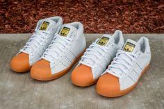 """adidas Originals Shell Toe  """"White & Gum"""" Pack"""