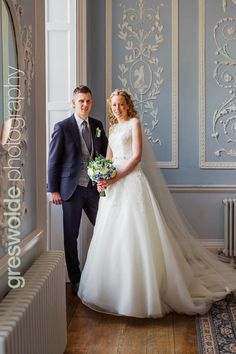 Bridal portrait in the blue room at Somerford Hall, Brewood Blue Rooms, Bridal Portraits, My Dream Home, Reception, Wedding Photography, Wedding Ideas, Couple Photos, Couples, Wedding Dresses