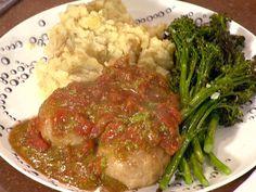 Mozzarella Stuffed Chicken Sausage Balls, Tomato-Basil Sauce, Cacio e Pepe Potatoes and Roast Broccolini Recipe : Rachael Ray : Food Network - FoodNetwork.com