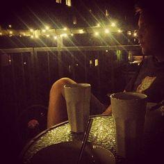 Aftenhygge på altanen med min skat, koldskål og Robbie rungende i det fjerne #dansk#sommer#aften#frederiksberg#jeg#er#nede#med#koldskål#