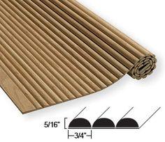 <ul> <li> %length% slat length x %height%H.</li> <li> Individual solid hardwood slat mouldings bonded to a cloth backer.</li> <li> Sanded and ready to finish. Wood Slats, Wood Paneling, Diy Furniture, Furniture Design, Slat Wall, Wall Wood, Wall Molding, Red Oak, Tambour