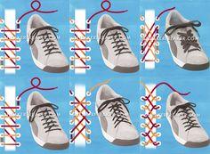 Mil e uma maneiras de amarrar seu tênis
