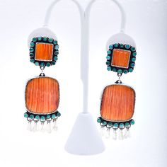 vintage navajo tuquoise spiny oyster amazing - orange and turquoise my fav fav.
