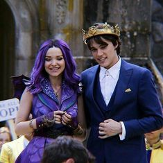 MAL AND BEN ARE MADLY IN LOVE 😍 #mitchellhope #dovecameron #dotchell #bal #benflorian #malbertha #ben #mal #kingben #queenmal #benandmal…