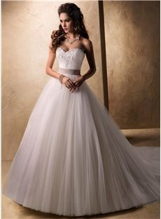 Line Sparkly Sweetheart Beading Sash / Ribbons Lace Tulle Wedding Dresses Newcastle