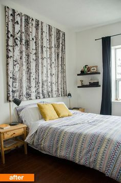 Before & After: A Brightened Hand-Me-Down & Handmade Bedroom