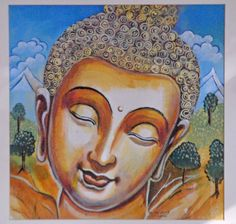 Lord Buddha is the symbol of peace and harmony. In this time of difficulty due to blockade and fuel crisis, peace and harmony can help humanity Buddha Drawing, Buddha Painting, Oil Pastel Drawings, Buddha Zen, Peace Dove, Zen Art, Hindu Art, Indian Gods, Beautiful Paintings
