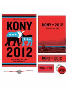 Invisible Children's KONY 2012 Action Kit is available and holds everything you need to hit the streets to make a huge impact this year. Find out more: kony2012.com