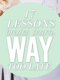 Lessons Most Brides Learn Too Late