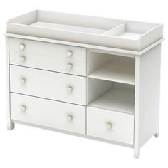 South Shore Little Smileys Transitional 4 Drawer Changing Table - Pure White   - Online Only