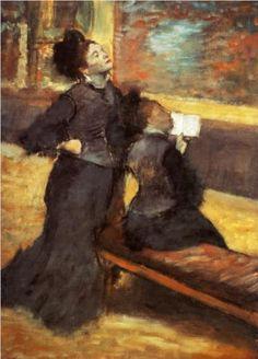 Edgar Degas - Visit to a Museum [1880]