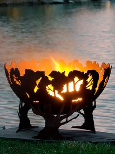 Forest Fire Tree Fire Pit Functional Art by TheFirePitGallery