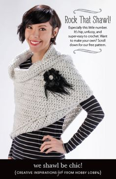 Hobby Lobby Project - We Shawl Be Chic! - crochet, crochet shawls, shawl, chic shawl