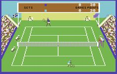 Match Point Tennis, Commodore 64, 1984