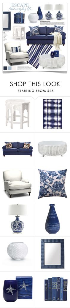 """Blue and White Decor"" by jpetersen ❤ liked on Polyvore featuring interior, interiors, interior design, home, home decor, interior decorating, Zara Home, Jonathan Adler, Williams-Sonoma and Barclay Butera"