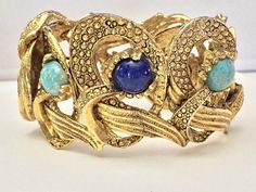 Rare HOBE Egyptian Revival Hinged Clamper by SweetBettysBling
