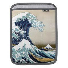 Restored Great Wave off Kanagawa by Hokusai Sleeve For iPads - vintage gifts retro ideas cyo