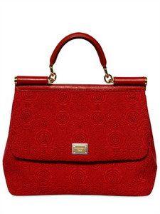 906f5ed8bc574a DOLCE  amp  GABBANA - SICILY LACY TOP HANDLE BAG Dolce And Gabbana  Handbags