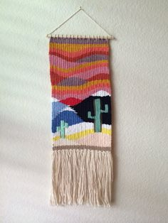 Quartz // Geometric hand made weaving by EidieWeaving on Etsy Weaving Wall Hanging, Weaving Art, Loom Weaving, Tapestry Weaving, Wall Tapestry, Wall Hangings, Weaving Projects, Crochet Projects, Yarn Crafts