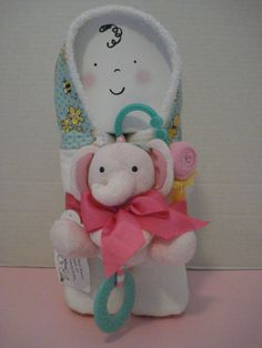 Hooded Towel/Baby Gift Set/Pink by LilGuppiesBoutique on Etsy