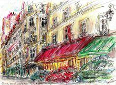 Paris Commerces Rue Rambuteau - Yann Le Houelleur