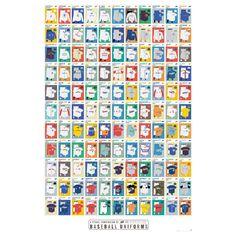 A Visual Compendium of Baseball Uniforms Poster