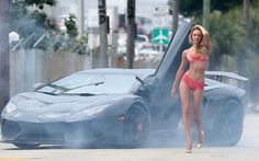 Lamborghini Aventador meet... Victoria Secret Models!