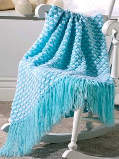 Bundles of Joy - Make this while you wait for a new arrival, and be ready to wrap your new bundle with love. Afghan size: 36 x 42 inches (excluding fringe)(appx)
