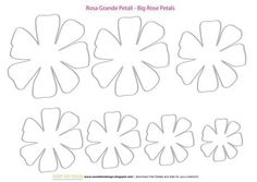 Sweet Bio Design: Paper Flowers New style tutorials and templates - Paper flowers New Style templates Kirigami, Flower Crafts, Rose Petals, Quilling, Paper Flowers, Creations, Card Making, Diy Crafts, Templates