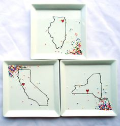 City & State Love Plate  YOU PICK by AQuartzyLife on Etsy, $14.00
