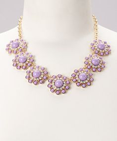 Take a look at this Lavender Circles Necklace by Baubles on #zulily today! http://www.zulily.com/invite/mlockwood361