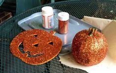 Glitter Pumpkins - Halloween Crafts for Kids