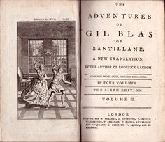 [Alain-René Lesage] The Adventures of Gil Blas of Santillane. A New Translation by the Author of Roderick Random [Tobias Smollett]. The sixth edition. In four volumes. Volume III. London, Printed for W. Strahan, J. Rifington, T. Davies, etc., London, n.d. [1785]