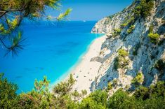 Egremni beach, Lefkas Island, Greece.