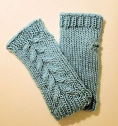 Free Knitting Pattern - Fingerless Gloves & Mitts: Cabo Mittens